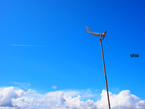 shio_pen飛行機雲、空、飛行