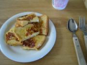 フレンチトースト朝食。