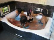 お友達とお風呂