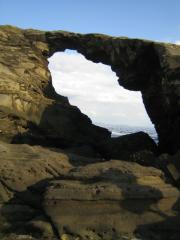 城ヶ島公園 馬の背洞門 正面から