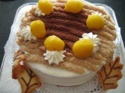 焼き菓子教室 マロンケーキ 完成