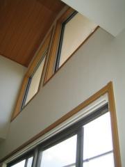 窓拭き 2階 吹抜け窓