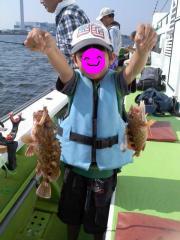 息子初釣り 2