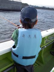 息子初釣り 3