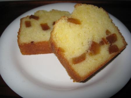 ピールパウンドケーキ カット