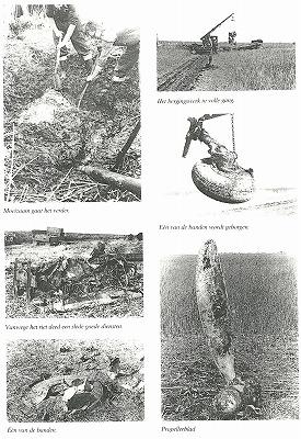 泥の中での発掘の様子