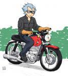バイクに乗るイーグル。