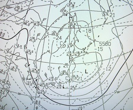 2012年5月11日09時の高層天気図
