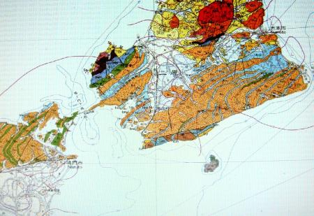淡路島南部の地質図