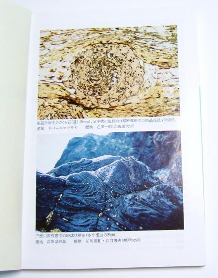 沼島の鞘状褶曲の写真が載っている