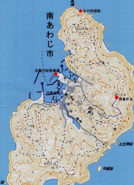 沼島の地形図