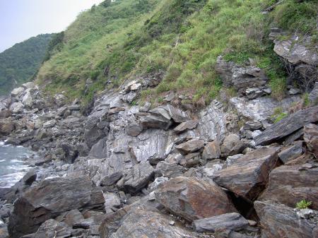 岩石が累々と堆積する