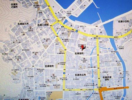Google地図より、奄美大島奄美市 市街地にある名瀬旧測候所