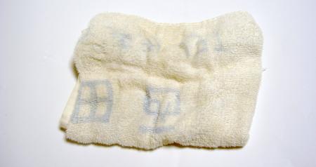 汚れの著しいタオル