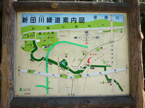 分梅橋近辺地図(新田川)