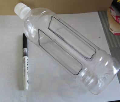 ペットボトル風車作り (1)