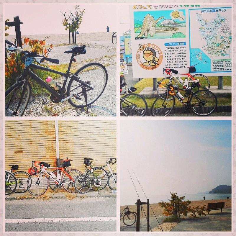 笠岡ラーメンポタ自転車