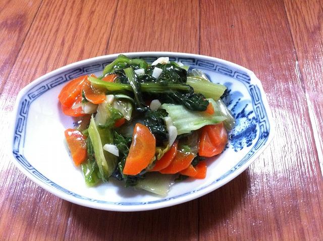 タァツァイ、山東菜炒め物