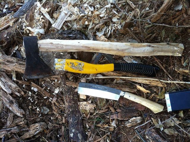 斧の柄を自作