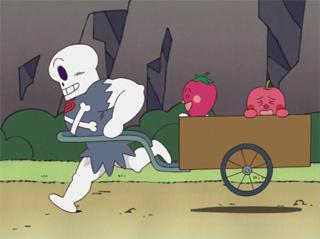 鉄骨ホラーマンとイチゴちゃん