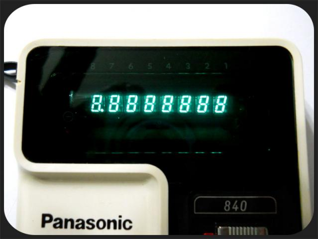 Panasonic JE-840U  display