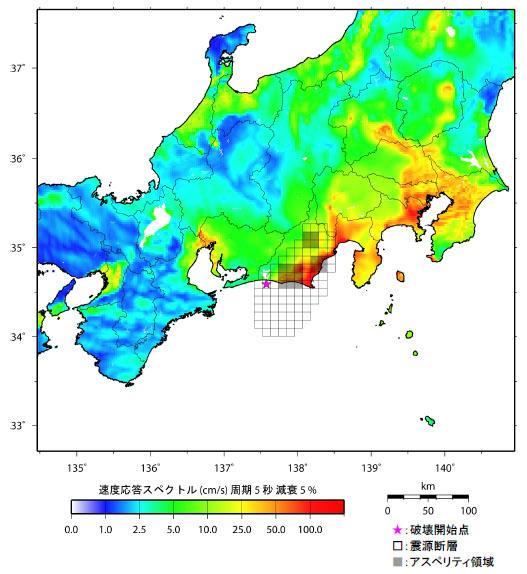 想定東海地震の想定震源域
