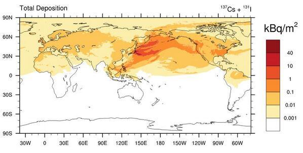 放射能汚染世界図