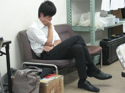 お疲れの幹事長