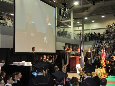 卒業式にて。