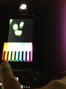スマホ用色光ピアノ