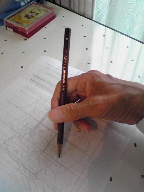 鉛筆を握る (480x640)