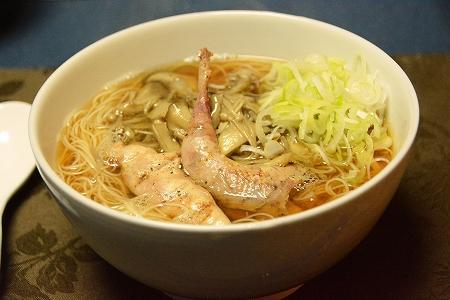 エゾライチョウ煮麺20141009