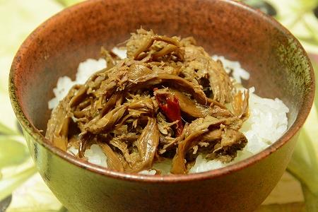 猪百合ご飯に20141104