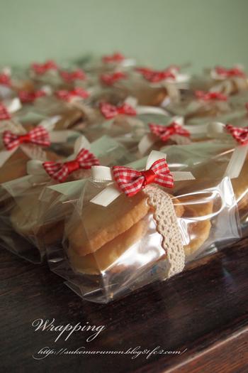 クッキー小分けラッピングクリスマス