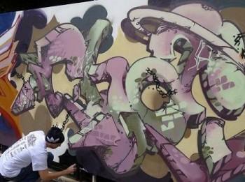 バンコク ウォールロードタイランド2012 落書き画像