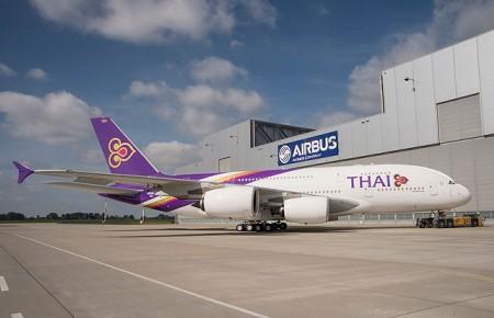 タイ航空 A380ロールアウト写真