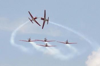 タイ航空100年祭写真 デモフライト
