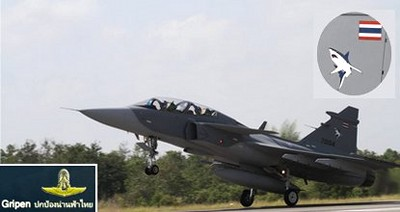 タイ航空100年祭写真  グリペンJAS39戦闘機写真