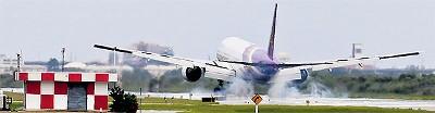タイ航空 スワンナプーム空港着陸写真
