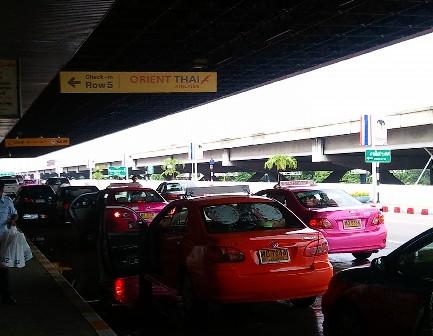 ドンムアン空港 タクシー乗場写真