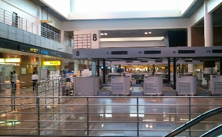ドンムアン空港 チェックインカウンター写真