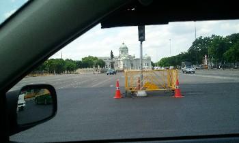 バンコク チットラダー宮殿車窓から写真