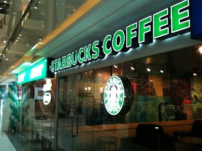 バンコク タイムズスクエア wifiスターバックス写真