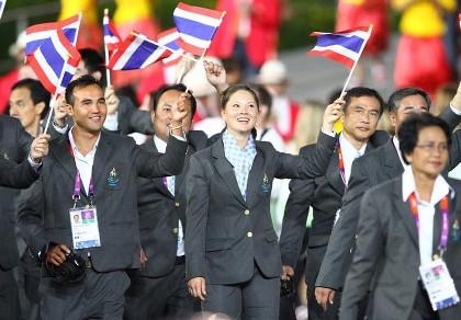 タイ ロンドンオリンピック入場式写真