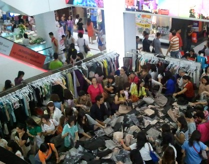 バンコク サイアムセンター閉店セール画像