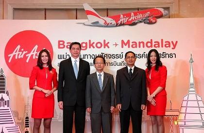 エアアジア バンコク~マンダレー就航10月
