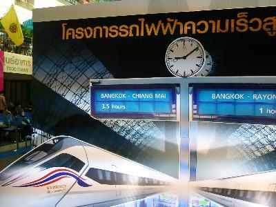 タイ高速鉄道 バンコク ホアラ-ンポン駅