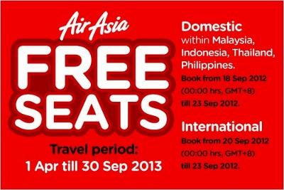 エアアジアの無料航空券画像