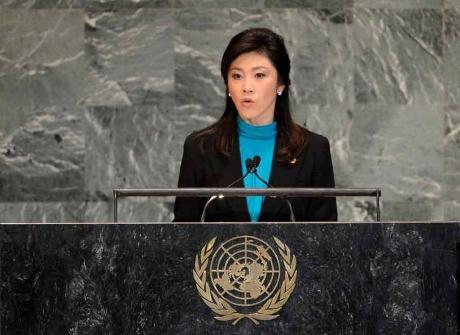 インラック首相 国連総会で演説写真
