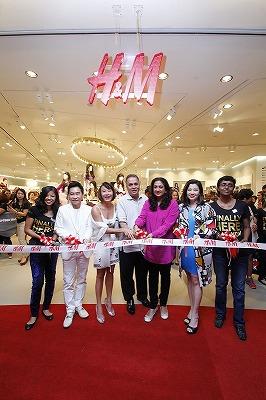 バンコク H&Mサイアムパラゴン開店写真